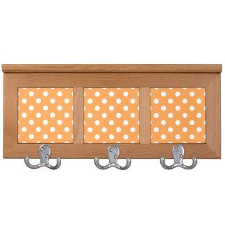 Orange Polka Dot Pattern Coat Rack