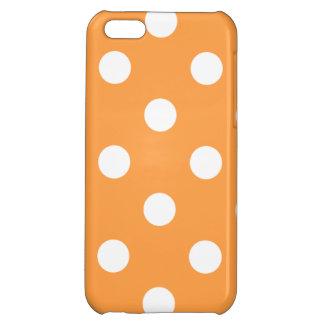 Orange Polka Dot Pattern Cover For iPhone 5C