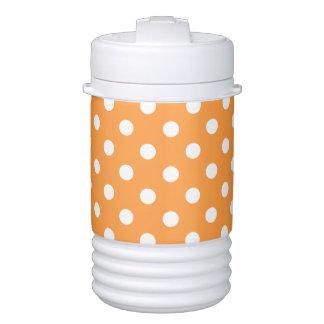 Orange Polka Dot Pattern Drinks Cooler