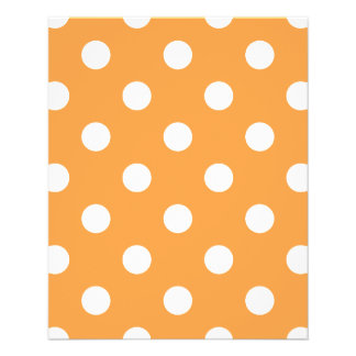 Orange Polka Dot Pattern Flyer