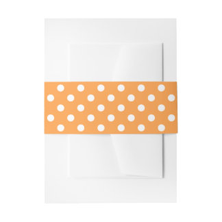 Orange Polka Dot Pattern Invitation Belly Band