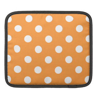 Orange Polka Dot Pattern iPad Sleeve