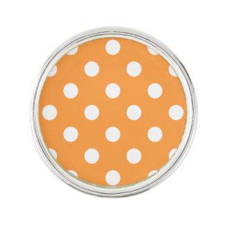 Orange Polka Dot Pattern Lapel Pin
