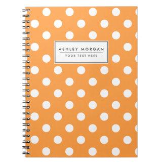 Orange Polka Dot Pattern Notebooks