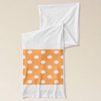 Orange Polka Dot Pattern Scarf