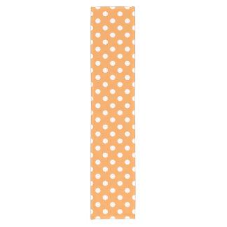 Orange Polka Dot Pattern Short Table Runner