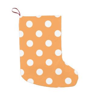 Orange Polka Dot Pattern Small Christmas Stocking