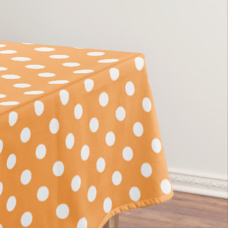 Orange Polka Dot Pattern Tablecloth