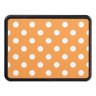 Orange Polka Dot Pattern Trailer Hitch Cover