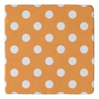 Orange Polka Dot Pattern Trivet