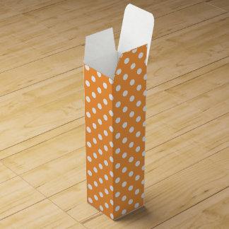 Orange Polka Dot Pattern Wine Box