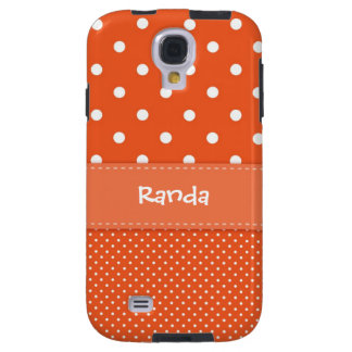 Orange Polka Dot Samsung Galaxy S4 Case
