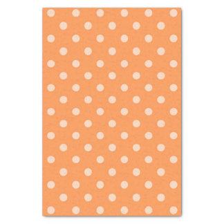 Orange Polka Dot Tissue Paper