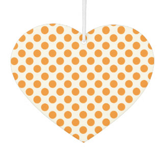 Orange Polka Dots Air Freshener