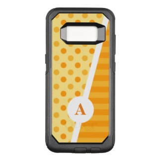 Orange Polka Dots and Stripes OtterBox Commuter Samsung Galaxy S8 Case