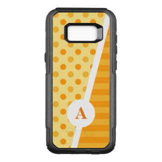 Orange Polka Dots and Stripes OtterBox Commuter Samsung Galaxy S8+ Case