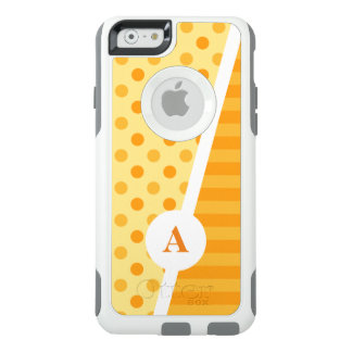Orange Polka Dots and Stripes OtterBox iPhone 6/6s Case