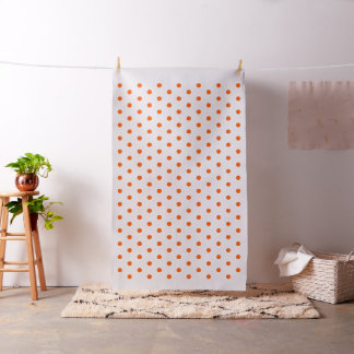 Orange Polka Dots Art Craft Sewing Quilting Fabric