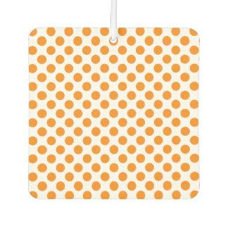 Orange Polka Dots Car Air Freshener