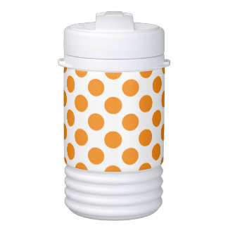 Orange Polka Dots Cooler