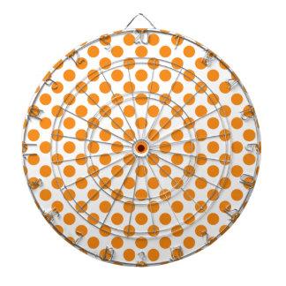 Orange Polka Dots Dartboard