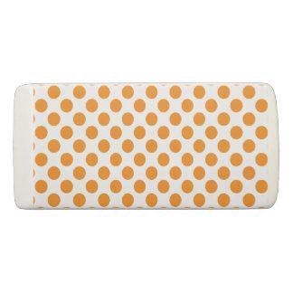 Orange Polka Dots Eraser