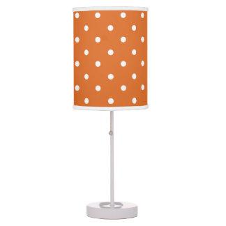 Orange Polka Dots Girls Room Decor Table Lamp