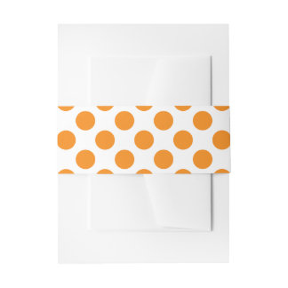 Orange Polka Dots Invitation Belly Band