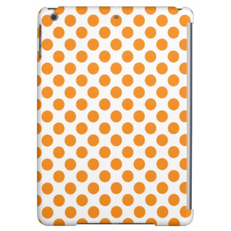 Orange Polka Dots iPad Air Cases