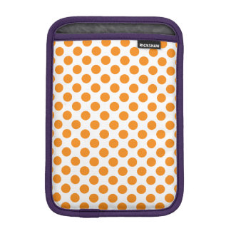 Orange Polka Dots iPad Mini Sleeve