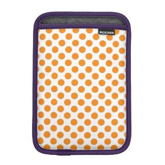 Orange Polka Dots iPad Mini Sleeves