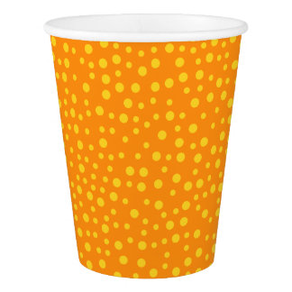 Orange Polka Dots Paper Cup