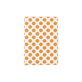 Orange Polka Dots Passport Holder