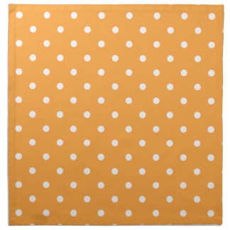 Orange Polka Dots Pattern. Printed Napkins