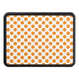 Orange Polka Dots Trailer Hitch Cover
