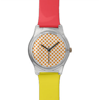 Orange Polka Dots Watch