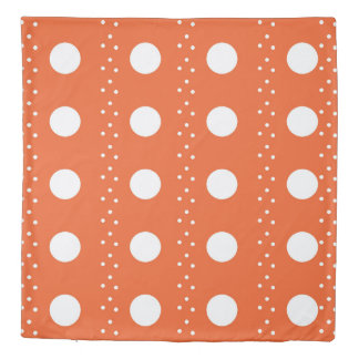Orange Polkadot Stripes Duvet Cover