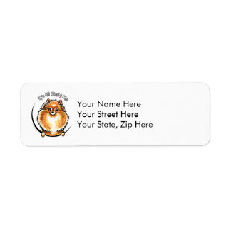 Orange Pomeranian IAAM Return Address Label