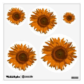 Orange Pop Art Sunflowers Wall Decal