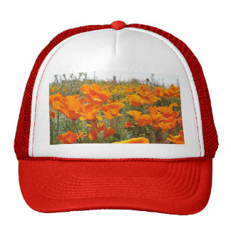 Orange Poppy Field of Flowers Trucker Hat