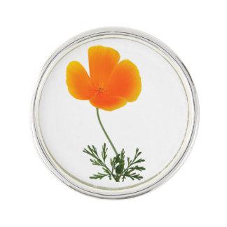 orange poppy lapel pin