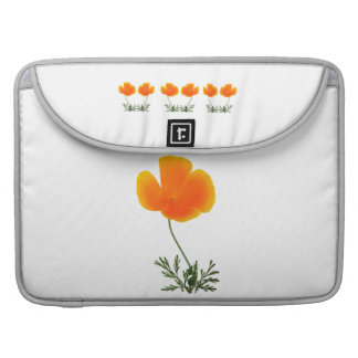 orange poppy sleeve for MacBook pro