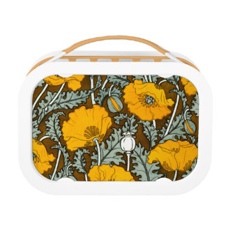 Orange Poppy Yubo Lunchbox