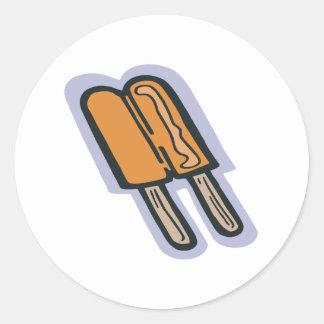 Orange Popsicle Classic Round Sticker