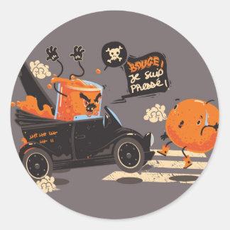 Orange pressée classic round sticker