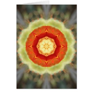 Orange Prickly Pear Blossom Card
