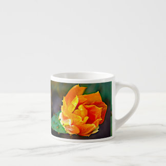 Orange Prickly Pear Cactus Espresso Mug