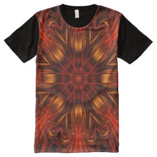 Orange Psychedelic Flower Tee Shirt