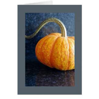 Orange Pumpkin Blank Notecard