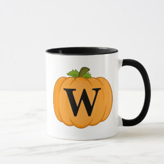 Orange Pumpkin Monogram